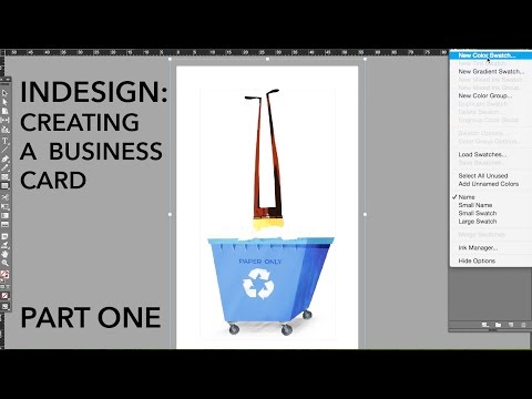 InDesign Tutorial 1 - setting up, margins, colour, & importing images.