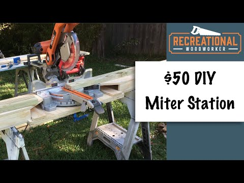 $30 DIY Portable Miter Saw Station - From one sheet of plywood