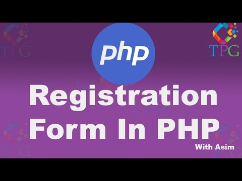 Registration Form In PHP and MYSQL