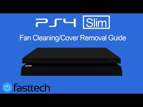 How to clean PS4 Slim fan and remove top cover