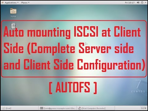 How to auto mount iscsi target disk in Centos 7 ,Redhat 7 (automounting)