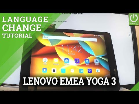 How to Change Lanaguge in LENOVO EMEA Yoga 3 - Set Language