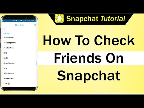 How To Check Friends On Snapchat 2018