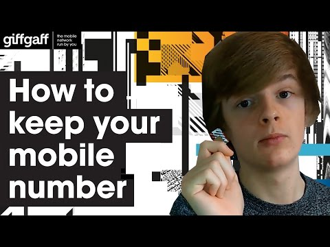 How to keep your current mobile number | giffgaff
