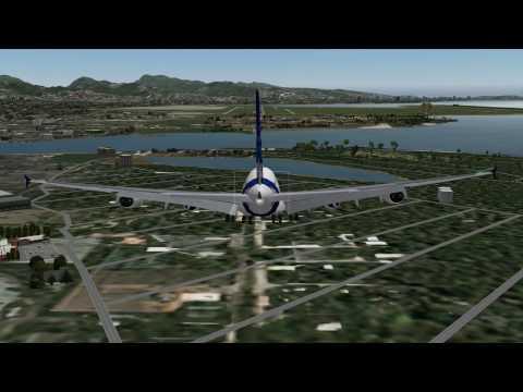 Airbus A380 Landing - Honolulu International