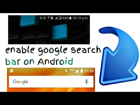 Set google search bar on Android home screen