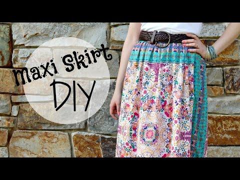 How to make a Maxi Dress into a Maxi Skirt! Maxi Skirt DIY | SoJustine