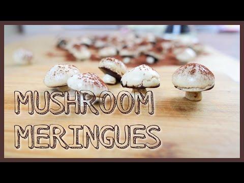 Cinnamon mushroom meringues chocolate cookies dessert recipe for Etsy #1 桂香蘑菇蛋白甜餅