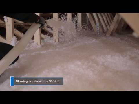 The Right Way to Insulate Attics with Blown-in Insulation - Spanish