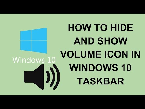 How To Hide and Show Volume Icon in Windows 10 Taskbar   Tech Tutorial Videos in Hindi