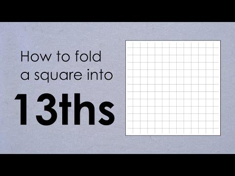 Origami Basics Tutorial: Folding a 13-division square grid