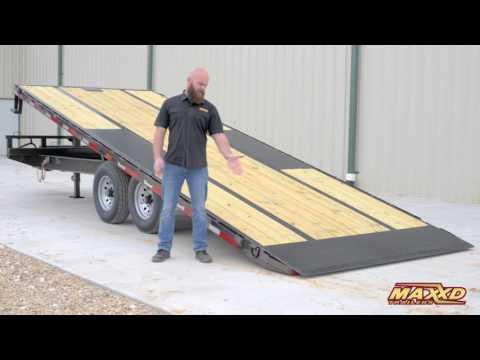 Power Tilt Deckover Trailer by MAXXD Trailers