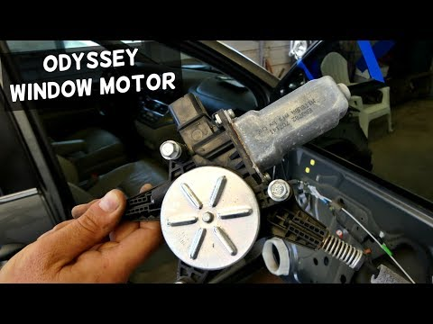 HONDA ODYSSEY FRONT DOOR WINDOW MOTOR REMOVAL REPLACEMENT