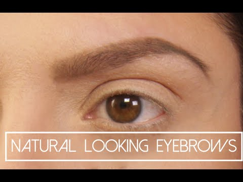 Natural Looking Eyebrows Makeup Tutorial (Waterproof, Smudge-proof, long lasting)