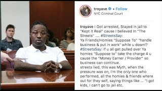"Troy Ave Breaks Down On IG: ""I Have To Snitch, I"