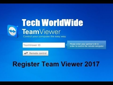 How To Register Team Viewer Remote Control Access Software Premium Version 2017