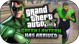 Gta 5 mods green lantern superhero mod powers amp skin mod gta 5
