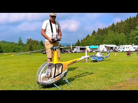 STUNNING AMAZING R-22 ROBINSON BIG SCALE VARIO RC ELECTRIC MODEL HELICOPTER FLIGHT DEMONSTRATION