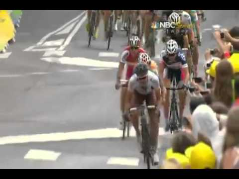 LTDF 2012   Stage 18   Mark Cavendish Sprints to the finish!