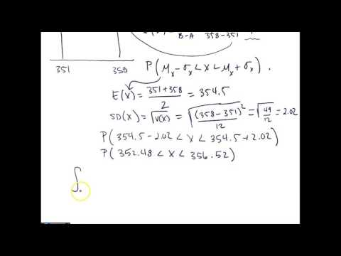 Calculating Values for a RV with a Uniform Distribution by Hand - Random Number Generator