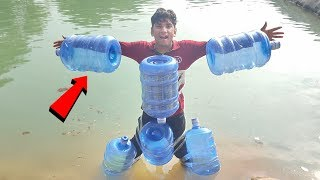 6 Water Cane On My Body Experiment || Can I Swim With This Jugaad || Experiment King