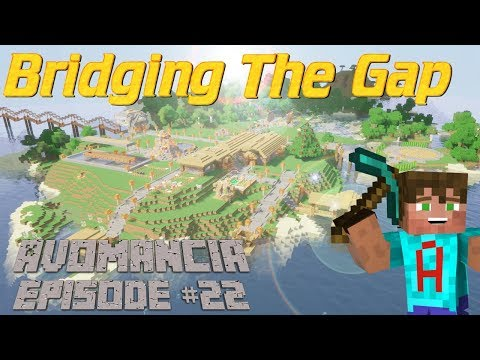 Minecraft: Lets Play Survival   Crazy Bridge Rails   Update with a Poorly Voice   Avomancia Ep22