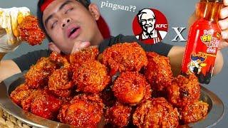 GOKIL!! BUKA PUASA PAKE 15 KFC DI CAMPUR 2 BOTOL SAOS SAMYANG NUCLEAR