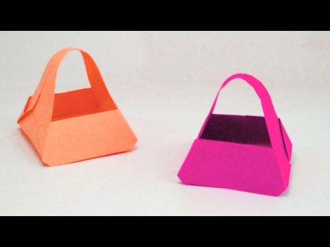 How to make a origami paper Bag ?