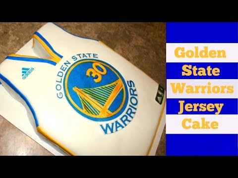 Golden State Warriors Basketball Jersey Cake