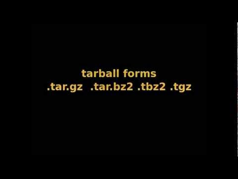 Tarball make and Install Linux tar.gz tgz tar.bz2 tbz2