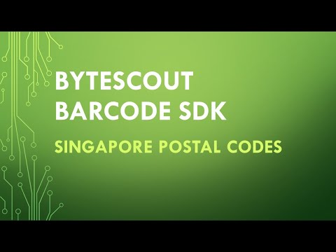 Bytescout BarCode SDK to generate Singapore Postal Code