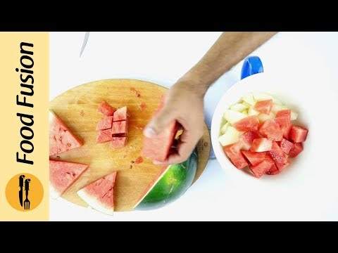 How to make a WaterMelon Basket - Food Fusion