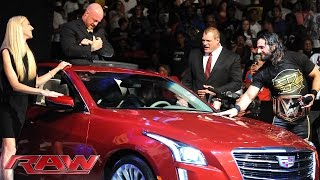 Seth Rollins gives gifts to Kane and J&J Security: Raw, June 29, 2015