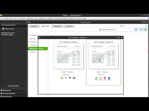 IRISH VAT3 (Cash Basis) Return in QuickBooks Pro UK 21013