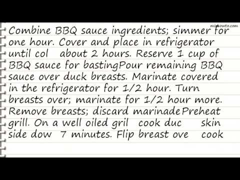 Recipe Grilled Duck Breast With Prickly Pear BBQ Sauce
