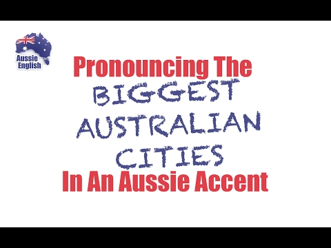 Pronouncing AUSTRALIAN CITIES in an Aussie accent | Learn Australian English