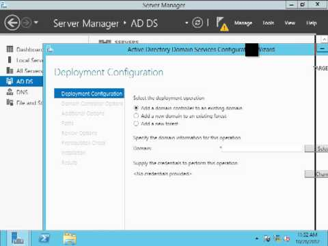 Install Active Directory on Windows Server 2012