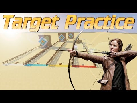 Minecraft: How to make an Archery Range in Minecraft with Hit Indicator | Archery Practice Tutorial