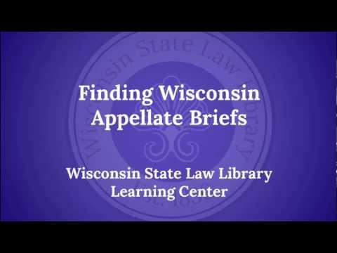 Finding Wisconsin Briefs