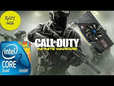Call of Duty Infinite Warfare Gameplay Benchmark Q6600 4gb ram HD 7770