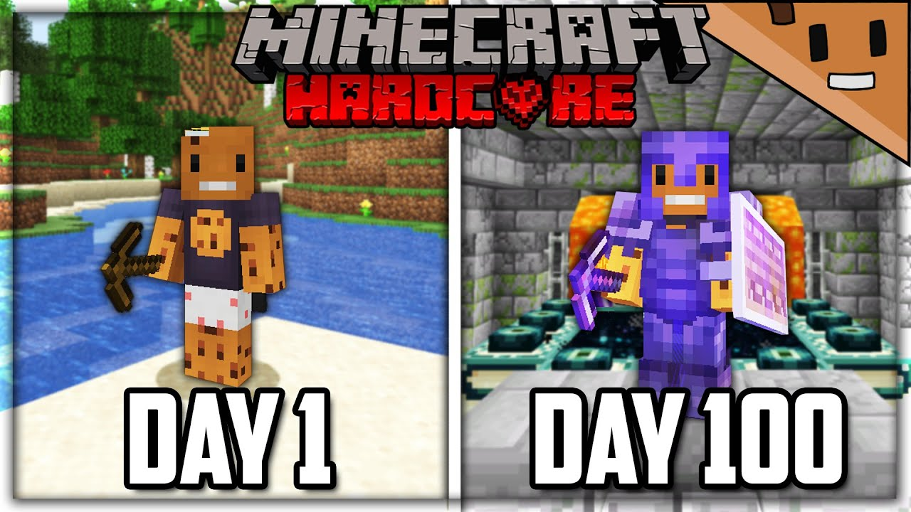 I Survived 100 Days in HARDCORE Minecraft... Here's What Happened