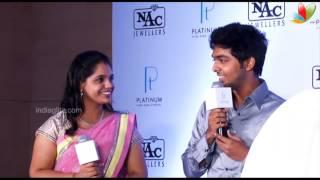 GV Prakash And Saindhavi At NAC Jewellers   Songs   Mrriage   Raja Rani