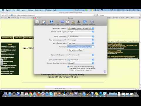 Set Your Home Page in Safari