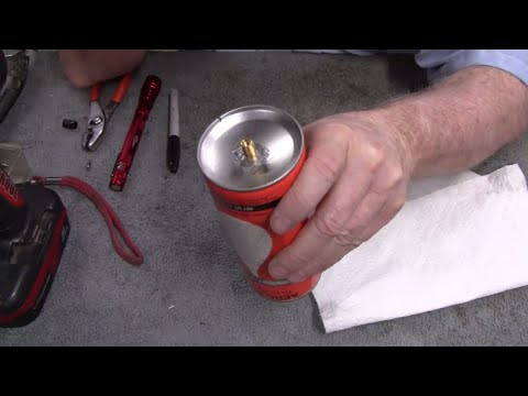 HOW TO MAKE AN AEROSOL CAN REFILLABLE