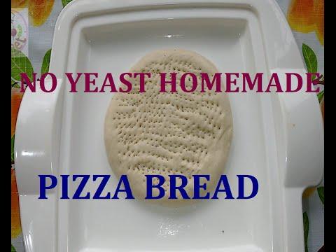No yeast pizza bread - Pizza base recipe - Pizza crust - gluten free pizza dough