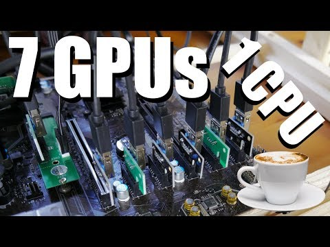 7 GPU Crypto Mining Rig With M.2 PCIe Slot Adapter