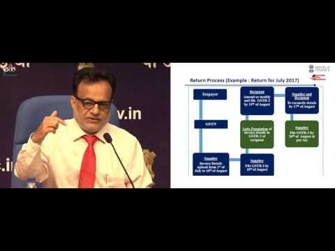 GST Return filing Process in Hindi Video by Revenue Secretary of India