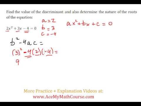 Discriminant (Quadratics) - Worked Example #1 (Basic Level)
