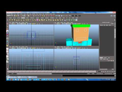 Autodesk maya tutorial minecraft character modeling rigging part 3