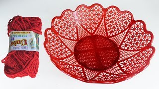 Awesome Craft Idea With Plastic Basket | Diy Arts and Crafts | Recycling Project